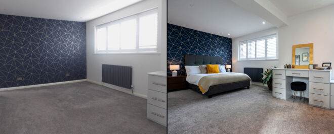 Before and After Empty House Makeover Services by Anna Hart